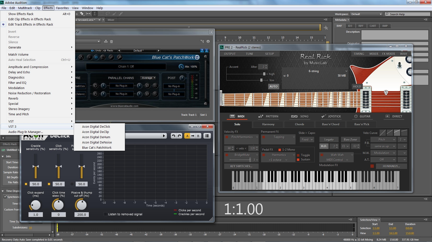 but does audition use correctly the vst3 plugins? | Adobe